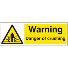 Warning - Danger of Crushing - 300x100mm - SAV 23666G