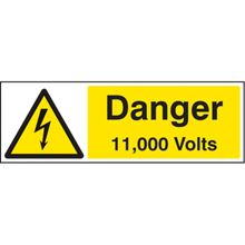 Danger 11,000 Volts - 150x200mm - SAV 24005E
