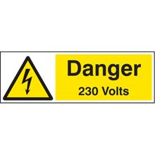 Danger 230 Volts -150x200mm - SAV 24024E