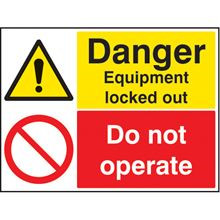 Equipment Locked Out/Do Not Operate - 100x75mm - RPVC 26242A