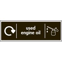Recycling - Used Engine Oil - 300x100mm - SAV 26652G