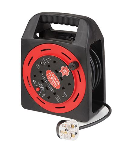 Open Drum Cable Reel 240 Volt 15 Metre 13 Amp 2 Socket EA3492