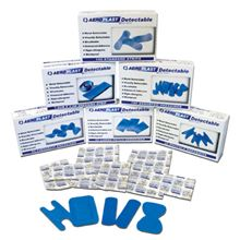 Blue Waterproof Plasters - 75mm x 25mm 100 per Box FA3552