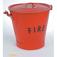 Metal Fire Bucket with Lid FX1721