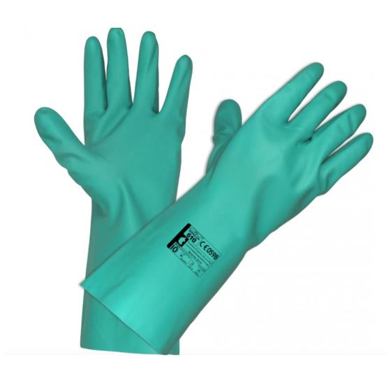 Green Nitrle Gaunlet gloves CV19 GL0042