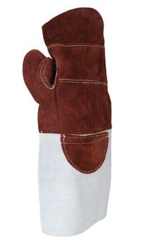 "Heat Resistant Leather Mittens 6"" Cuff GL2417"