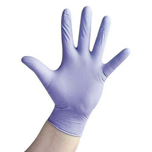 VELTUFF® 'Powder Free' Blue Nitrile Disposable Gloves - 100 Singles  VC20 GL4090