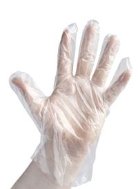 Polythene Disposable Gloves - Box 100 Singles GL4200
