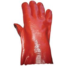 "Red PVC Gauntlets - 10.5"" GL6211"