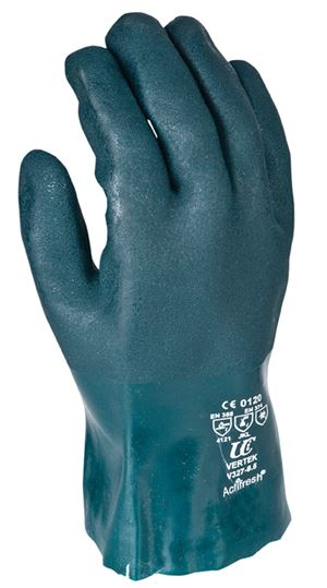 Green PVC Double Dip Gauntlets 10.5 GL6611