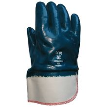 Nitrile Coated Safety Cuff Heavy Duty Gloves GL9632