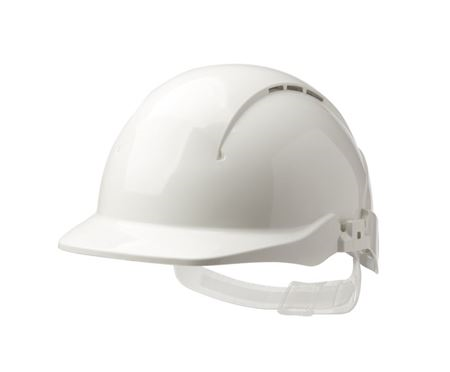 Concept Reduced Peak Wheel Ratchet Vented Safety Helmet HP7404
