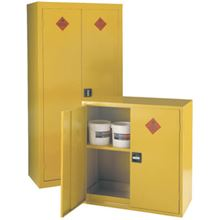Yellow Flammable Cabinet - 914mm x 457mm x 711mm LC0904