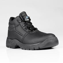Black Safety Boots + safety toe cap & mid-sole protection S1P SRC SF3570
