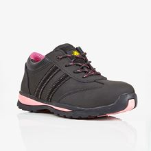 Ladies Black Lightweight Safety Trainer S1P SRC SF4747