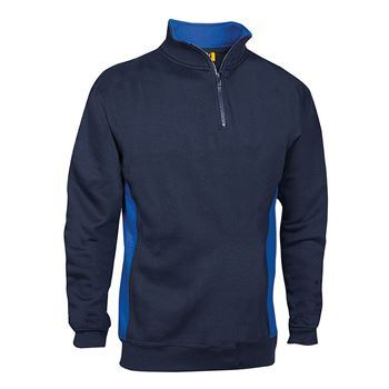 VELTUFF® 'Zone - Mid' Two-Tone Quarter-Zip Sweatshirt SH0051