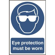 Eye Protection Must Be Worn Sign - 200x300mm - PVC SK0007