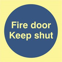 Fire Door Keep Shut - 100x100mm - Photoluminescent - PVC SK0220