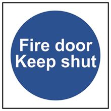 Fire door Keep shut - 100x100mm - RPVC SK11325