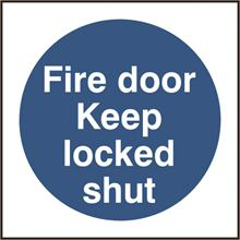 Fire door Keep locked shut - 100x100mm - SAV SK11328