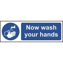 Wash Your Hands Sign - 300x100mm - RPVC SK11481