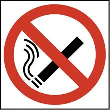 No Smoking Symbol Sign - 200x200mm - SAV SK11842