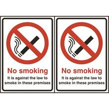 No smoking - Double sided - 2 per sheet -210x148mm - SAV SK11923
