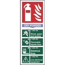 Dry Powder Fire Extinguisher Sign - 82x202mm - SAV SK12304