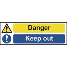 Danger keep out- 300x100mm - SAV SK12382