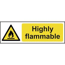 Highly flammable - 300x100mm - SAV SK12569