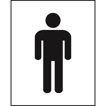 Male Toilet - Symbol Only - 200x250mm - SAV SK12589