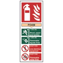 Fire Extinguisher - Foam. - 75x200mm - PVC SK1371