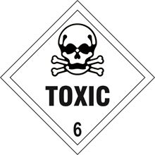 Toxic 6 - Hazard Diamond - 100x100mm - SAV SK13733
