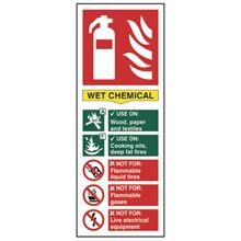 Fire Extinguisher - Wet Chemical - 75x200mm - PVC SK1374