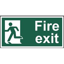 Fire Exit Left - 300x150mm - SAV SK14009