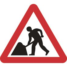 Men at Work - Roll up sign - Classic - 750mm - Triangular SK14120