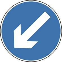 Directional Arrow Left - Roll up sign - Classic - 750mm - Diameter SK14132