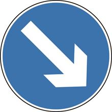 Directional Arrow Right - Roll up sign - Classic - 750mm - Diameter SK14134