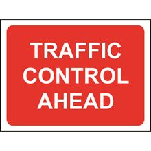 Traffic Control Ahead - Roll up sign - Classic - 1050x750mm SK14139