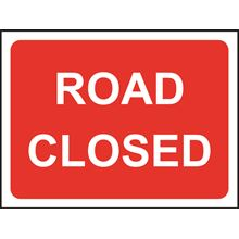Road Closed - Roll up sign - Classic - 1050x750mm SK14140