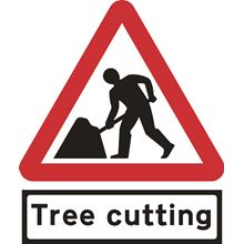 Men at Work + Tree cutting Supplate - Roll up sign -TriFlex-750mm SK14148