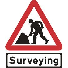 Men At Work + Surveying - Roll up sign -TriFlex - 900mm SK14151