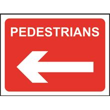 Pedestrians - Arrow Left - Roll up sign - TriFlex - 600x450mm SK14158