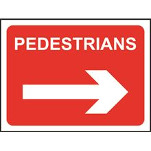 Pedestrians - Arrow Right - Roll up sign - TriFlex - 600x450mm SK14159