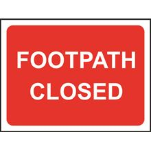 Footpath Closed - Roll up sign - TriFlex - 600x450mm SK14160
