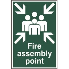 Fire Assembly Point Sign - 200x300mm - PVC SK1541