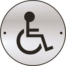 Disabled - Symbol Only - 75mm Diameter x1.5mm - SAA SK2436-0