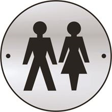 Unisex Toilet - Symbol Only - 75mm Diameter x1.5mm - SAA SK2470-0