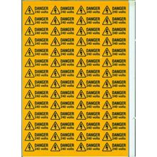 Danger - 240 Volts - 56 per Sheet - 49x20mm - SAV SK3001