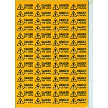 Danger - 415 Volts  - 56 per Sheet - 49x20mm - SAV SK3002